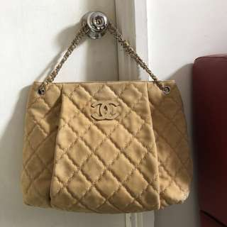 Authentic Chanel Calfskin Shopping Tote
