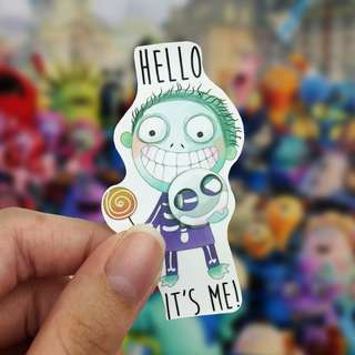 Lunarbay Hello It's Me! Vinyl Sticker Cute Sticker Laptop Decal