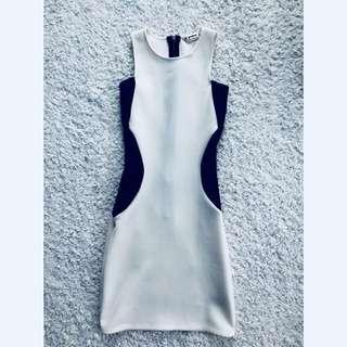 Miss Selfridge Creme Panel Dress (Petite)