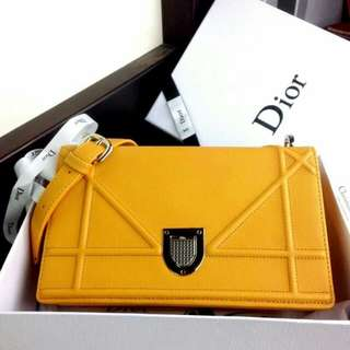 Christian Dior Diorama Flap Bag Grained Leather