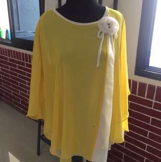 Chiffon Top Yellow