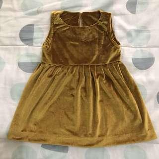 Velvet Gold Dress