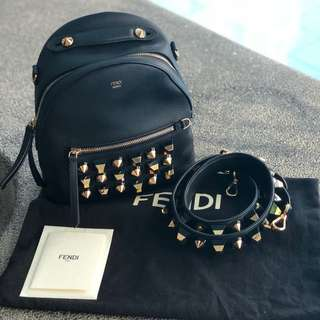 FENDI Mini Studded Backpack/Shoulder Bag