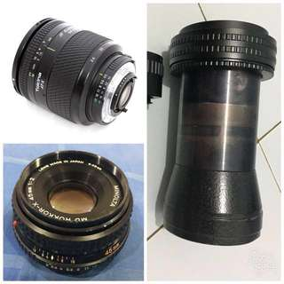 rare 3 lenses to sell in bundle