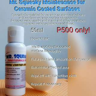 Mr SQUEAKY WATERMARKS REMOVER FOR CERAMIC COATED CARS