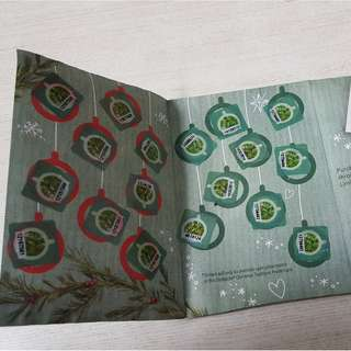 Starbucks Planner Card (complete 18 stickers)