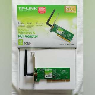 TP-LINK 150MBPS WIRELESS N PCI ADAPTER