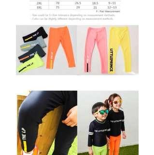 Korea fashion kid swimming pants (s and xl)