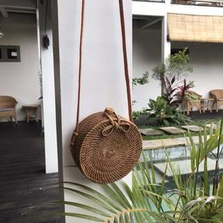 Rattan Shoulder Bag (Size S)