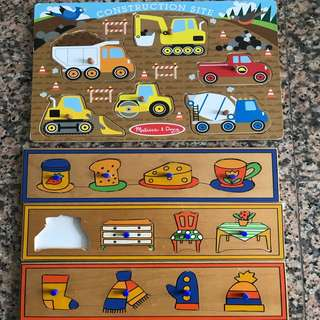 Wooden puzzles for babies and toddlers