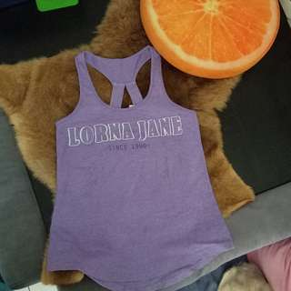 Lorna Jane Purple Tanktop original baju olahraga