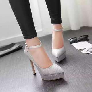 閃閃platform  高根鞋/新娘鞋 跟高13cm 防水台3cm