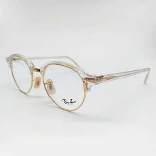😍 獨特時尚 😍[檸檬眼鏡] RayBan RX 4246 5762 旭日原廠公司貨 金色邊框透明眉架  -1