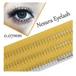 New Silk Soft False Eyelashes 0.07 C 3D Wave Individual Eyelash Extension Of Mink Black