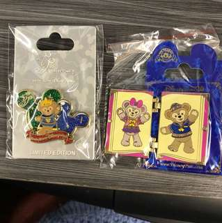 Hkdl duffy Sheillimay pin 2個 不散賣