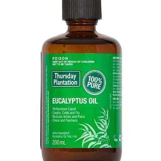 [200ml][FREE MAIL]Thursday Plantation Eucalyptus Oil
