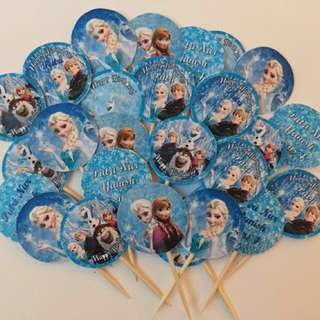 Frozen Themed Food Label Toppers