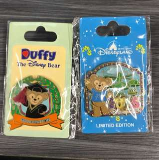 Hkdl duffy pin 2個 不散賣