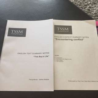Vce English tssm study guides