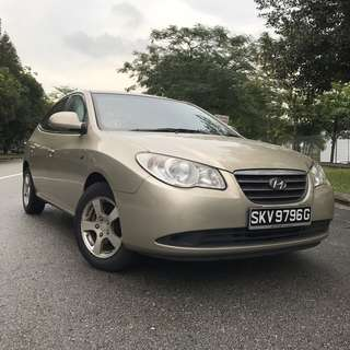 HYUNDAI AVANTE RENT UBER GRAB CHEAP