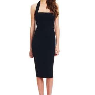 Nookie boulevard halter dress black