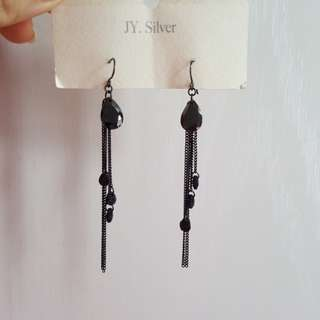 全新韓國型格晶石耳環