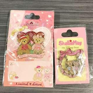 Hkdl 情人節 duffy Sheillimay pin 2個 不散賣