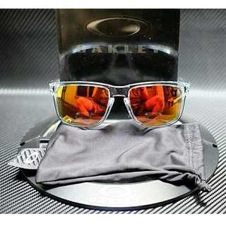 Original kacamata Oakley Holbrook polished clear fire iridium murmer