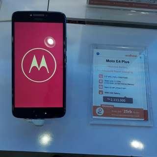 Kredir Moto E4 PLUS Bunga 0% tanpa cc