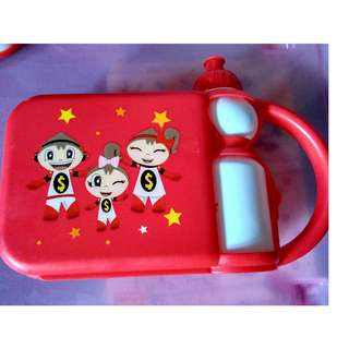 New ocbc kids lunchbox with bottle