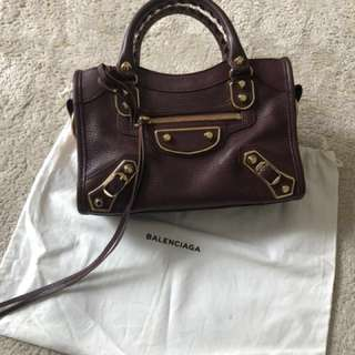 Authentic Balenciaga Mini City Edge