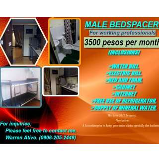 MALE BEDSPACERS IN MANDALUYONG