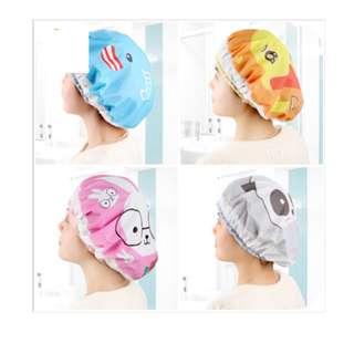 shower cap penutup rambut plastik karakter lucu - hbh022