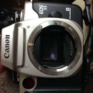 🚚 Canon eos 55 底片 film 傻瓜相機 含背帶 機身蓋