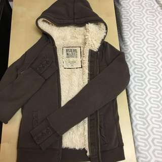 Abercrombie & Fitch Ruehl faux fur hoodies