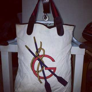 Tote Bag Canvas Vtg GUCCI