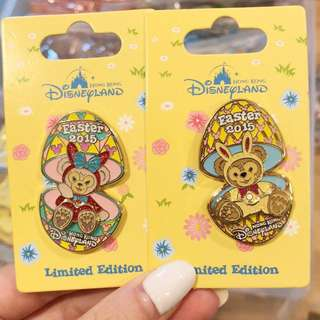 Hkdl 2015 easter duffy Sheillimay le pin 一對