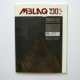 Mblaq 100%CD