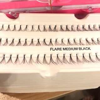 Eyelashes flare