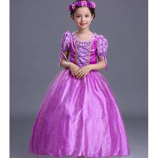 Rapunzel Princess Dress Costume Party Girl Dress