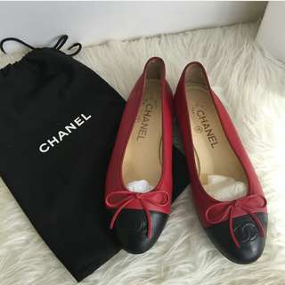 💯Chanel Ballerina EU 35.5 in Red