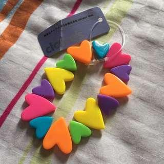 Kawaii Harajuku Style colourful heart bracelet