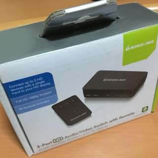 IOGEAR 3 Port HD Audio/Video Switch with Remote