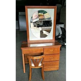 二手家具全省收購(大台北冠均 五股店)二手貨中心--極簡素雅高質感化妝台 書桌(含椅)H-122110