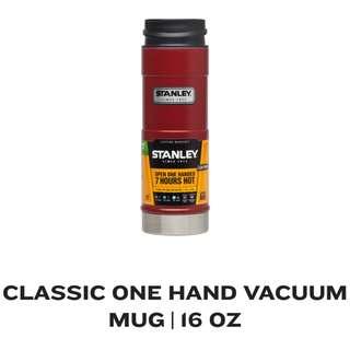 STANLEY CLASSIC ONE HAND VACUUM MUG 16oz RED