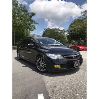 HONDA CIVIC AFTERMARKET EXHAUST RENT UBER GRAB