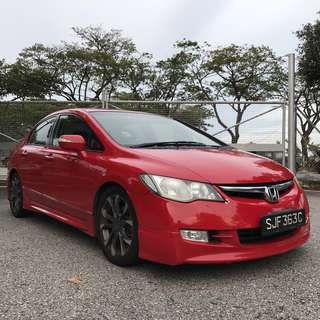HONDA CIVIC RENT UBER GRAB