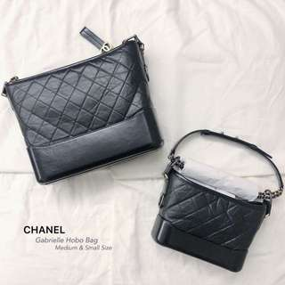 CHANEL Gabrielle Hobo Bag Medium & Small Size