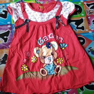 Dress anak red