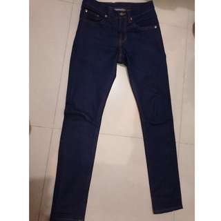 Attic Denim Dry Blue Indigo Slim Fit